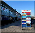 ST3486 : Tesco Extra businesses nameboard in Newport Retail Park by Jaggery