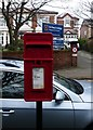 SJ3099 : Post mounted Post box by Norman Caesar