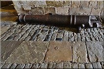 TR3752 : Deal Castle: A broken cannon on display outside the visitor entrance by Michael Garlick