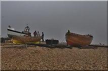 TR3752 : Deal Castle: Beach scene below the castle by Michael Garlick