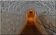 TR3752 : Deal Castle: The basement stairway by Michael Garlick