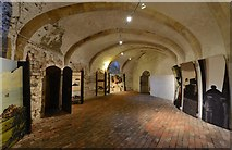 TR3752 : Deal Castle: Basement room with English Heritage information panels by Michael Garlick