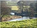 SK1140 : Former bridge piers in the River Dove by Ian Calderwood