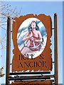 SE9721 : Inn sign at the Hope and Anchor by Graham Hogg