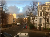 TQ2785 : Late afternoon sun on Tasker Road, Belsize Park by Kate Jewell