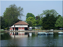 TQ4387 : Boat house, Valentines Park by Robin Webster