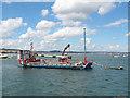 SX9880 : Dredger moored near Starcross by Stephen Craven