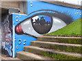 SX9192 : Street art/graffiti - Exe Bridges abutment, Exeter by Chris Allen