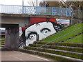 SX9192 : Graffiti/street art on Exe Bridge North, Exeter by Chris Allen