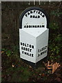SE0850 : Milestone on Bolton Road (B6160), Addingham by JThomas