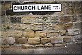 SE3036 : Benchmark under Church Lane name sign by Roger Templeman