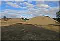 SK6623 : Top soil stockpiles by Andrew Tatlow