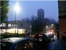 SZ0891 : Bournemouth: a soggy, foggy dusk on St. Stephen's Road by Chris Downer