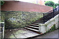 SE2935 : Steps from woodland path up to Delph Lane by Roger Templeman