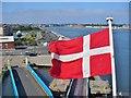 NZ3566 : Danish Flag by Colin Smith