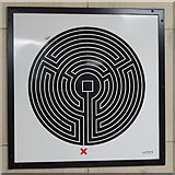 TQ3287 : Manor House tube station - Labyrinth 225 by Mike Quinn