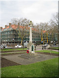 TQ3276 : Memorial to the First Surrey Rifles, St Giles' churchyard, Camberwell Church Street, London by Robin Stott