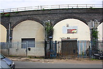 SE2932 : Industrial units under the railway arches of Bath Road by Roger Templeman
