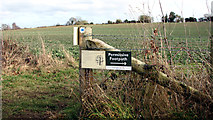 TG3204 : Permissive footpath sign by Evelyn Simak