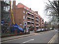 TQ3376 : The cleaned east wing of Bentley House, Glebe Estate, Camberwell, south London by Robin Stott