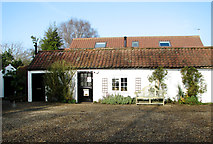 TG2909 : 1920s building with pantiled roof by Evelyn Simak