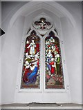 TQ0044 : Holy Trinity, Bramley: stained glass window (l) by Basher Eyre
