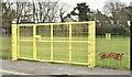 J4173 : Yellow gates, Moat Park, Dundonald (February 2017) by Albert Bridge