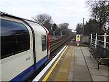 TQ4192 : Looking east from Roding Valley station by Marathon