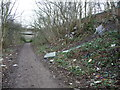 SE4102 : Fly-tipped rubbish on Elsecar Greenway by Christine Johnstone