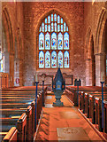 SD3778 : Cartmel Priory, Nave and Magnificat West Window by David Dixon