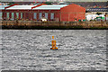 SJ3292 : Special Marker Buoy in the Mersey Estuary by David Dixon