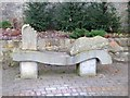 NZ0416 : Stone bench at Roman Way Picnic Site (3) by Oliver Dixon