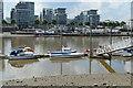 TQ2575 : Boats moored by N Chadwick
