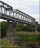SE2320 : Pipe bridge across the River Calder by Bobby Clegg