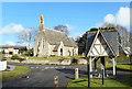 SU2991 : Fernham Church and Pump by Des Blenkinsopp
