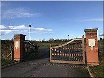 SJ8145 : Keele Cemetery gates by Jonathan Hutchins