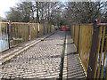 SE2336 : Newlay Bridge, freshly repainted by Stephen Craven