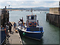 SX9980 : The Starcross ferry docks at Exmouth by Stephen Craven