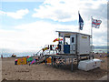 SY0080 : Lifeguard station, Exmouth beach by Stephen Craven