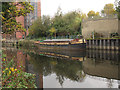 SE3132 : Barge moored on the river Aire by Stephen Craven