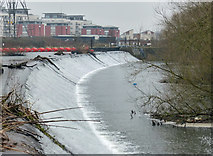 SK5702 : Weir along the River Soar/Grand Union Canal by Mat Fascione