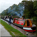 SK2103 : Working narrowboat by Glascote Basin, Staffordshire by Roger  Kidd