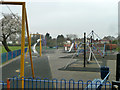 TQ4572 : Play area, King George's Field by Robin Webster
