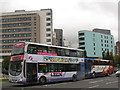 SE3033 : Bus and coach entering Leeds by Stephen Craven