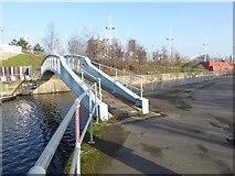 TQ3784 : Original bridge over the City Mill River by Marathon