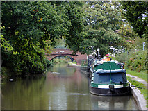 SK1705 : Visitor moorings at Hopwas in Staffordshire by Roger  Kidd