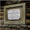 SS8690 : 1922 foundation stone in the wall of the former Cwmdu Workmen's Hall, Maesteg by Jaggery