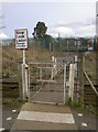 ST6771 : A railway right in front of the school by Neil Owen