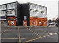 SJ7055 : Orange corner in Crewe by Jaggery