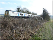 TQ5365 : Thameslink train about to cross Eynsford Viaduct by Marathon
